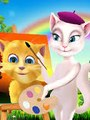 Rain Rain Go Away & Funny Cats Talking Angela & Ginger Kids Songs | Popular Nursery Rhymes