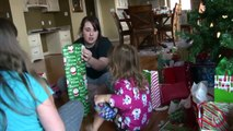 Kids Opening Christmas Presents - Monster High Gifts - iPhone Surprise - Baby Fun Day 2013