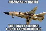 Turkish F16 Shoot Down Russian Su 24 _ Tureckie F16 Zestrzelił Samolot Bombowy