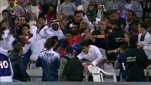 David Luiz salutes the supporters