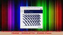 PDF Download  Partitions classique SCHOTT VERDI GIUSEPPE  LISZT FRANZ  RIGOLETTO  PIANO Piano Download Full Ebook