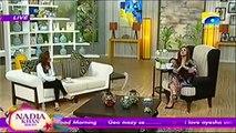 Nadia khan Show on Geo TV - 30th December 2015 - Aisha Umer - Part 2