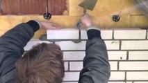 :-) Ich beim Mauern-Klinkern einer Großen Weißen Villa,Mason, Construction site, Brickla
