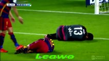 """@27"""" Messi and Adan collided - Adan punches the ball and Messi goes to ground in a heap"""