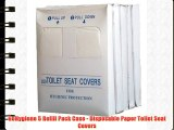 GoHygiene 5 Refill Pack Case - Disposable Paper Toilet Seat Covers