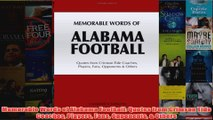 Memorable Words of Alabama Football Quotes from Crimson Tide Coaches Players Fans