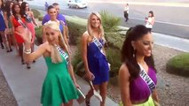 51 Miss USA 2013 contestants and Miss USA 2012 at Buca di beppo vegas 2013
