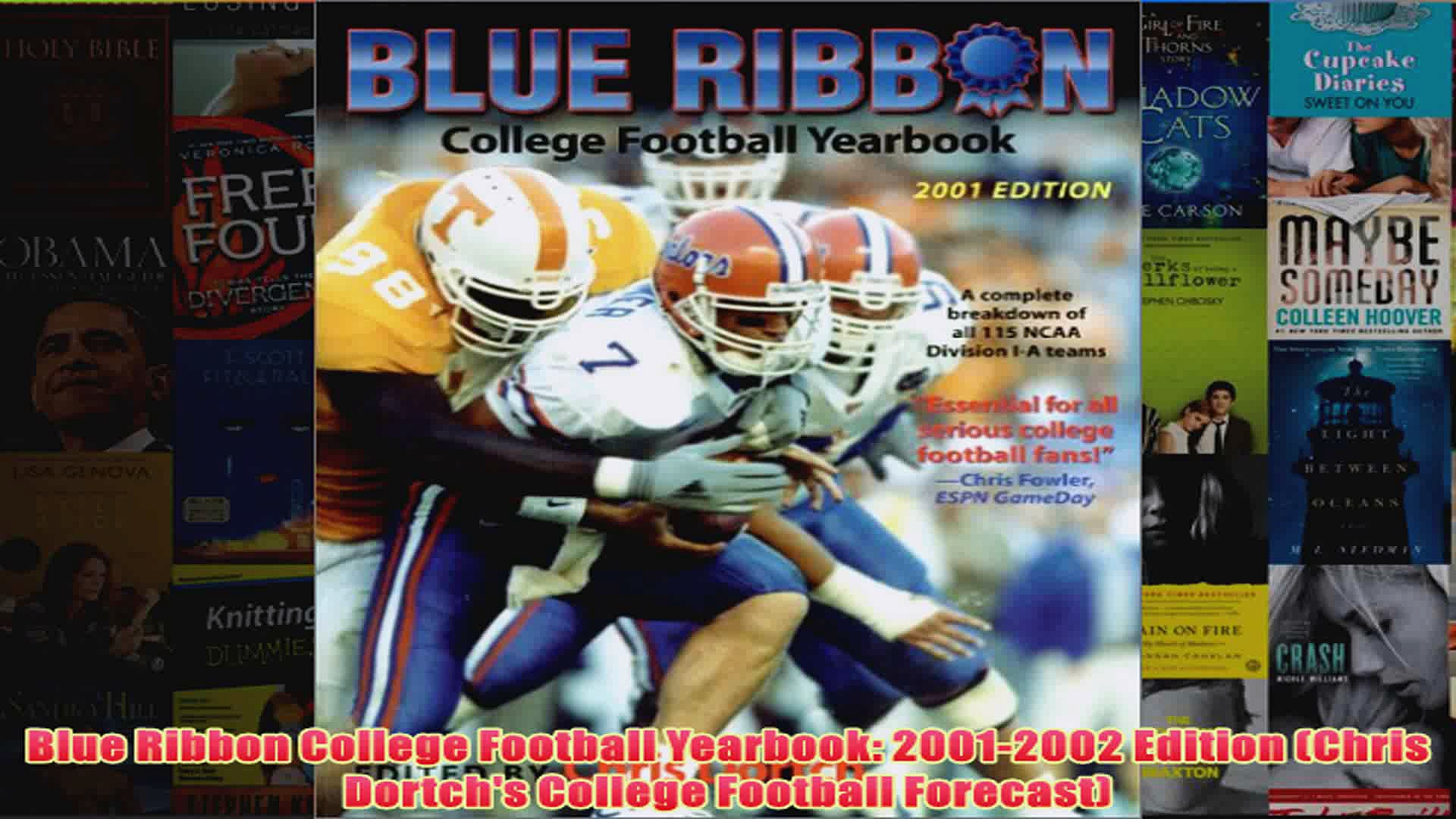 Blue Ribbon College Football Yearbook 20012002 Edition Chris Dortchs College Football