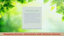 Read  Stepping Stones Interviews with Seamus Heaney PDF Free