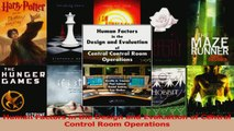 PDF Download  Human Factors in the Design and Evaluation of Central Control Room Operations Read Full Ebook