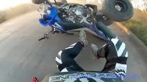 #1 ATV Crash Compilation Fail - Quad Yamaha Raptor Suzuki Honda