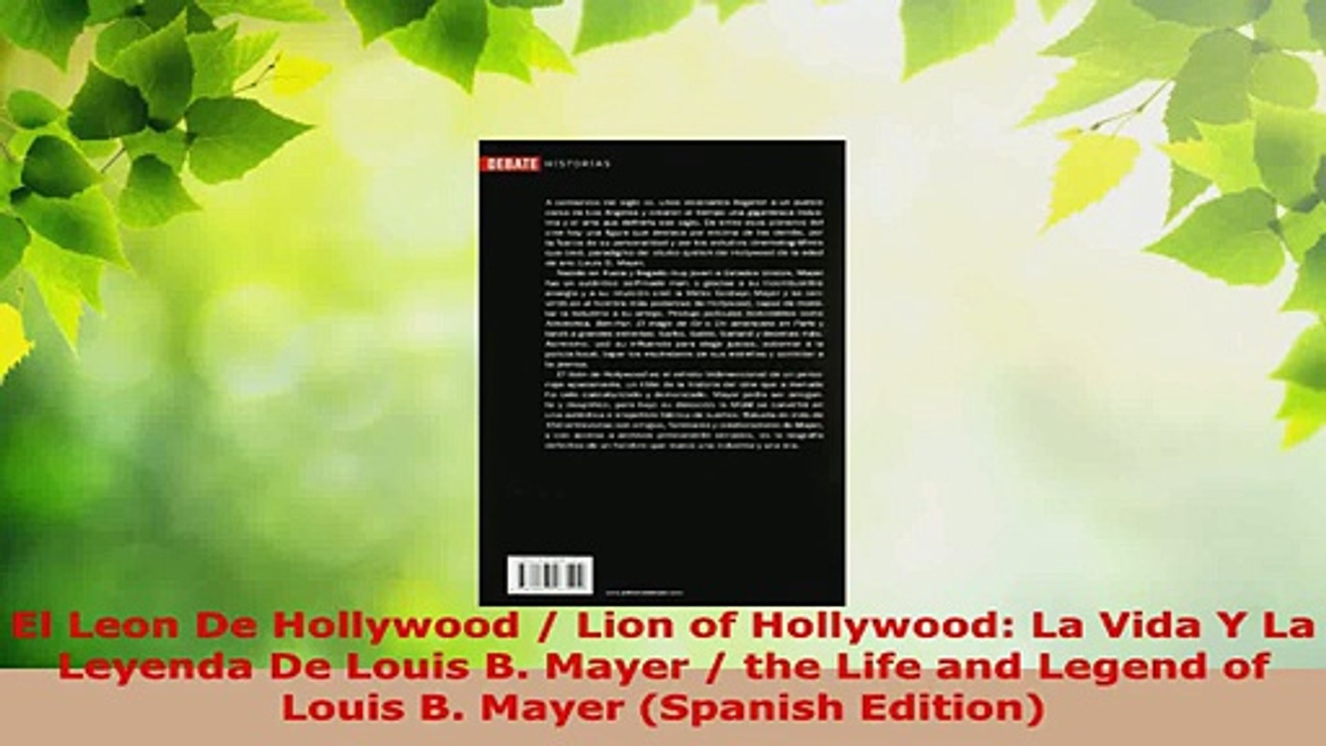 Read  El Leon De Hollywood  Lion of Hollywood La Vida Y La Leyenda De Louis B Mayer  the EBooks Onli