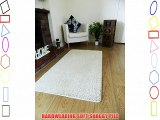 NEW SOFT IVORY CREAM SHAGGY MATS MACHINE WASHABLE NON SLIP LARGE SMALL BEDROOM RUGS