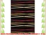 benuta Modern Rug Stripes Swing Black 140x200 cm - 100% Polypropylene - Stripes - Machine woven