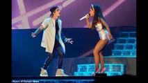 HOT %## Justin Bieber embrace Ariana Grande during live concert