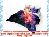 3D Effect galaxy photo print 3 pcs duvet cover bedding set single double king size Nebula Cosmos