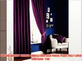 SUPERB QUALITY 90X108 PURPLE FAUX SILK PENCIL PLEAT FULLY LINED CURTAINS *TUR*