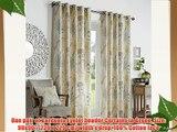 One pair of Gardenia Eyelet header Curtains in Green Size: 90x90 (229 x 229 cm) width x drop