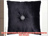 Cluster Black Cushion 50x50 Compliments the Edessa Duvet by Kylie Minogue