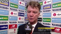 Stoke 2 0 Manchester United Louis van Gaal Post Match Interview Players Feeling Pressure
