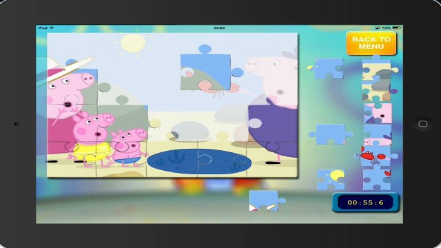 game peppa pig PEPPA PIG puzzle 16 HD ipad english gameplay peppa pig puzzle
