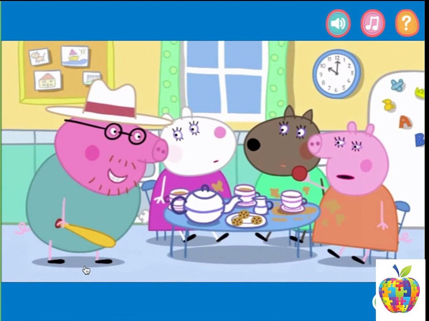 video for kids Peppa Pig Game education