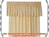 Lana Natural 66 (width) x 90 (drop) Floral Damask Fully Lined Pencil Pleat / 3 Tape Top Curtain