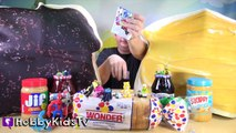 Worlds BIGGEST PEANUT BUTTER Sandwich! Surprise Egg + Jelly PBJ HobbyKidsTV