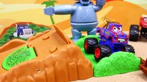 Blaze and the Monster Machines Launch Forest Adventure Parody Jumping Disney Cars Monster Trucks