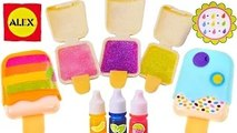 LIPGLOSS MAKER KIT --- Mix & Makeup POPSICKLE Lip Shimmer Keychains_ 3 Flavors by Alex Toys
