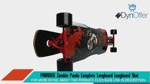 PARADISE Zombie Panda Complete Longboard Longboard Skateboards Sports and Outdoors