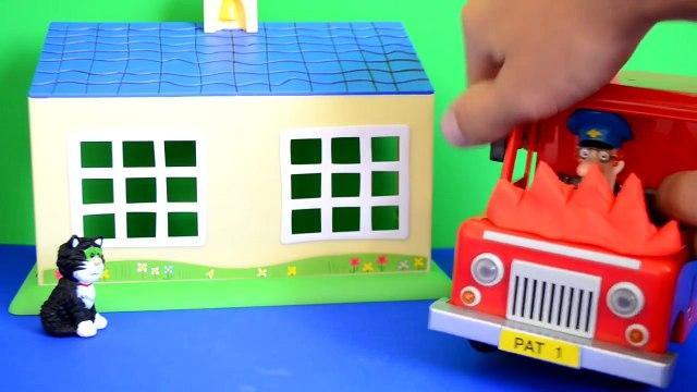 peppa pig story Fireman Sam Episode Peppa Pig Play-doh Postman pat Van Fire Fire Engine Story WOW