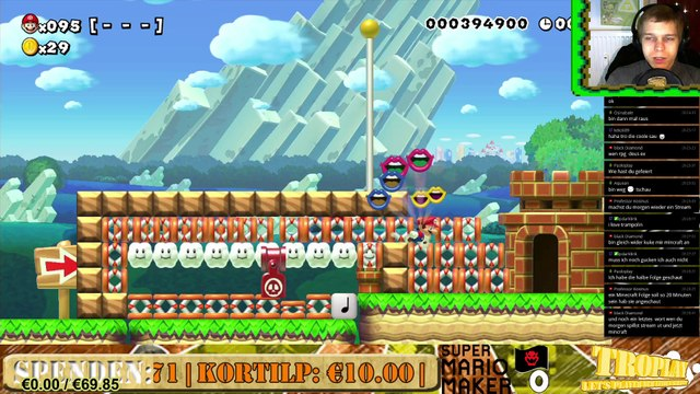 Super Mario Maker 100-Mario-Herausforderungen ★ Live Stream ★ 01.01.2016