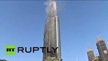 Dubaï : de la fumée s'échappe de l'hôtel The Address même si l'incendie est maîtrisé