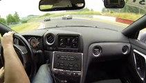 OnBoard with Telemetry Nissan GT R Nordschleife trackdays de