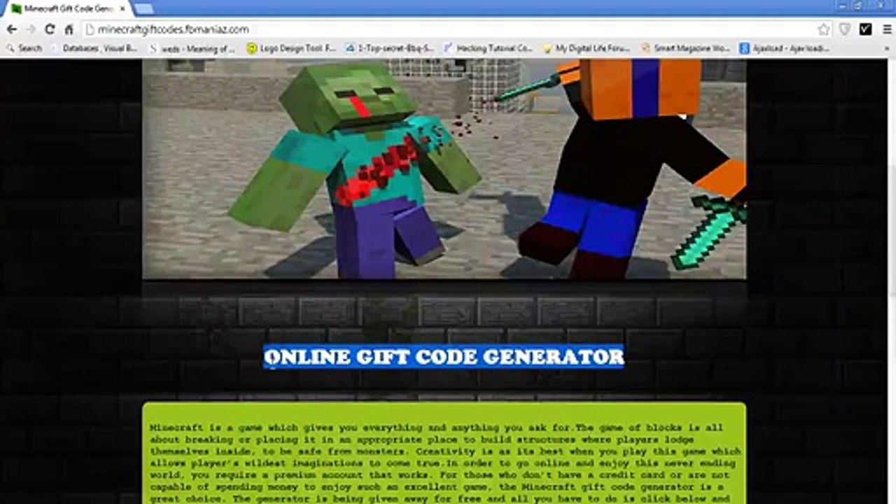 Free Minecraft Gift Code Generator 2016 No Survey Video Dailymotion