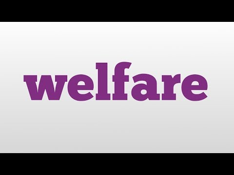 welfare meaning and pronunciation