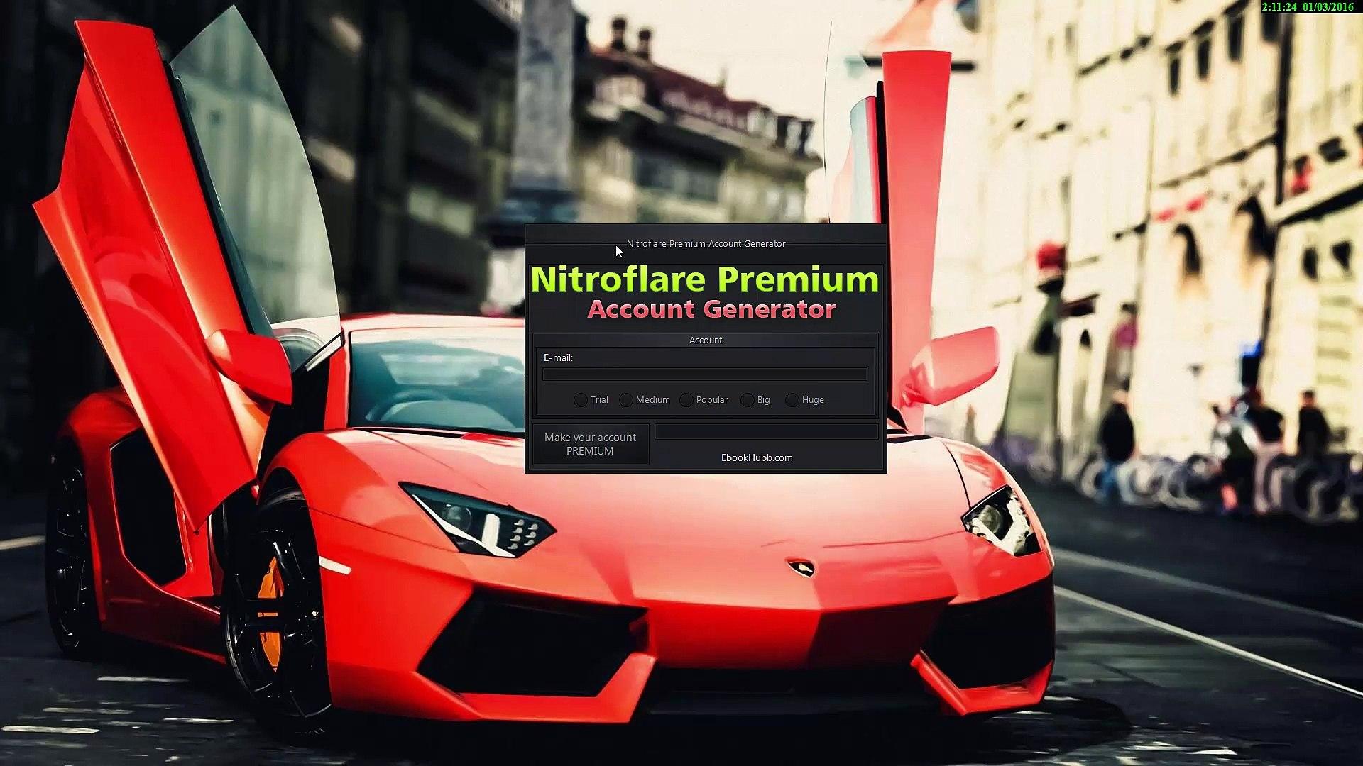 Nitroflare premium account generator