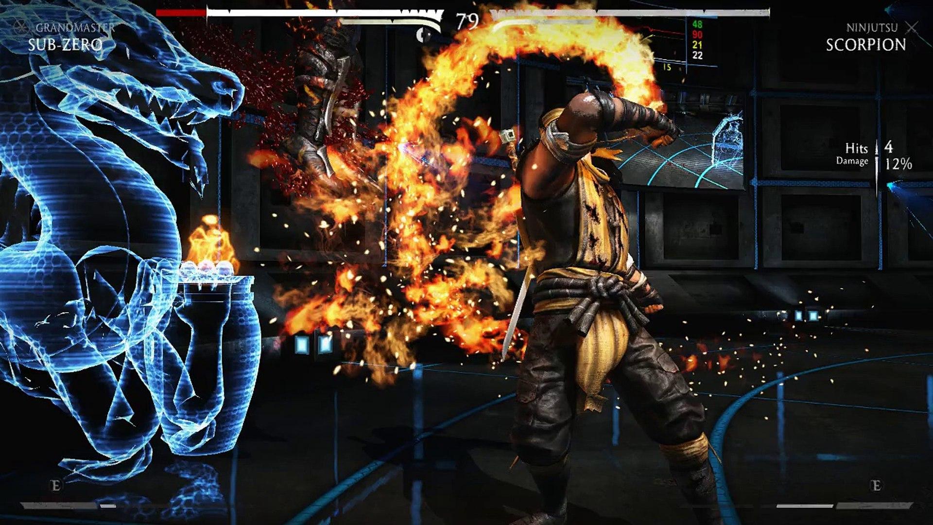 Mortal Kombat X Sub Zero Vs Scorpion Video Dailymotion