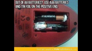 how to use AAA batteries instead of AA