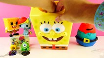 SPONGEBOB SURPRISE BASKET Disney Frozen Princess Mr. Krabs Play Doh Surprise Egg