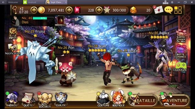 Seven knights : Farm de gold et rubis