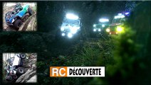Modélisme à Nantes Rc Crawler et Scale Trial 4x4 Offroad roches cailloux racines nuit éclairages LED