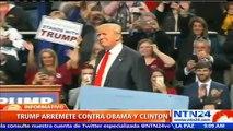 Enérgica acusación: Donald Trump dice a Barack Obama y Hillary Clinton fueron los creadores de ISIS