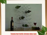 Twenty four bottle chrome wine rack