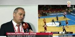 Galatasaray-Beşiktaş 92-50  Maç sonu açıklamalar- Ekrem Memnun, Müge Erdem, Işıl Alben, Meltem Yıldızhan'ın açıklamaları