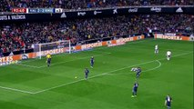 Negredo big missed chance in last minute chance to win the game for Valencia vs Real Madrid
