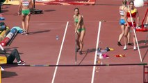 Oops! moment of an Irish beautiful pole vault woman