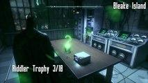 Batman Arkham Knight All Riddler Trophies Bleake Island Part I