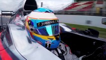 McLaren Honda F1 2015 Fernando Alonso on track in Barcelona with the MP4 30